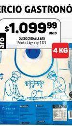 Oferta de Queso crema La aro por $1099,99
