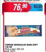 Oferta de Turrón Georgalos mani soft 130gr por $76,9