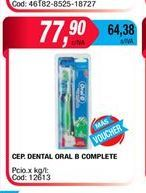 Oferta de Cepillo dental Oral-B complete  por $77,9
