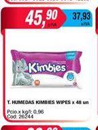 Oferta de Toallitas humedas KIMBIES x 48un. por $45,9