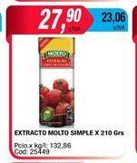 Oferta de Extracto Molto simple x 210gr  por $27,9