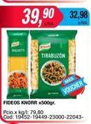 Oferta de Fideos Knorr x 500grs  por $39,9