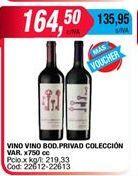 Oferta de Vino tinto Bodega Privada por $164,5