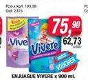 Oferta de Enjuague Vivere x 900ml por $75,9