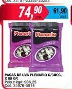 Oferta de Pasas de uva Plenario c/choc x 80gr  por $74,9