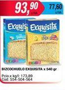 Oferta de Bizcochuelo Exquisita x 540gr  por $93,9