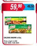Oferta de Caldo Knorr x 12un. por $59,9