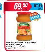 Oferta de Mermelada Molto durazno frasco x 454gr  por $69,5