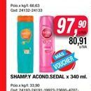 Oferta de Shampoo y acon. Sedal x 340ml  por $97,9
