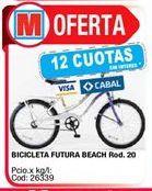 Oferta de Bicicletas futura beach rod.20 por