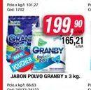 Oferta de Jabon en polvo GRANBY X 3kg por $199,9