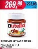 Oferta de Untable de chocolate Nutella por $269,9