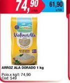Oferta de Arroz Ala dorado x 1kgº por $74,9