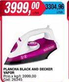 Oferta de Plancha black and becker vapor  por $3999