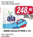 Oferta de Jabón líquido Ala x 3lt por $248,9