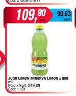 Oferta de Jugo limon Minerva limon x 500gr  por $109,9