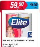 Oferta de Papel higiénico Elite por $59,9