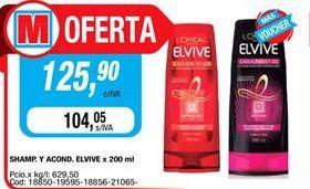 Oferta de Shampoo y acond. Elvive x 200ml  por $125,9