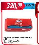 Oferta de Quesos La paulina barra prato por $320,9