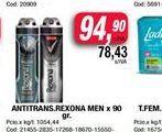 Oferta de Antitranspirante Rexona men x 90gr  por $94,9