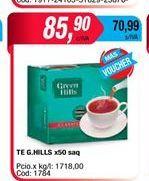 Oferta de Te Green Hills x 50saq por $85,9