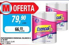 Oferta de Papel higiénico Esencial por $79,9
