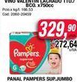 Oferta de Pañales Pampers sup. jumbo  por $329,9