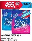 Oferta de Detergente en polvo Zorro por $455,9