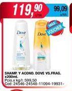 Oferta de Shampoo y acond. Dove x 200ml  por $119,9