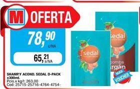 Oferta de Shampoo y acond SEDAL d-pack x 300ml  por $78,9