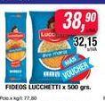 Oferta de Fideos Lucchetti x 500grs  por $38,9