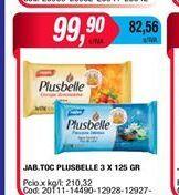 Oferta de Jabón de tocador Plusbelle 3 x 125gr  por $99,9
