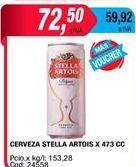 Oferta de Latas de cerveza Stella Artois por $72,5