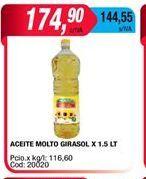 Oferta de Aceite Molto girasol x 1,5lt por $174,9