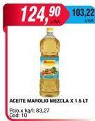 Oferta de Aceite Maroliomezcla x 1,5lt por $124,9