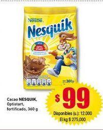 Oferta de Cacao soluble Nesquik por $99