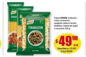 Oferta de Fideos Knorr por $49,9