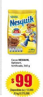 Oferta de Cacao Nesquik por $99