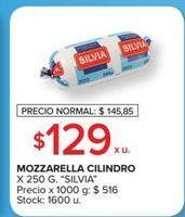 Oferta de Mozzarella cilindro x 250g Silvia por $129