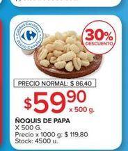 Oferta de Ñoquis de papa x 500g  por $59,9