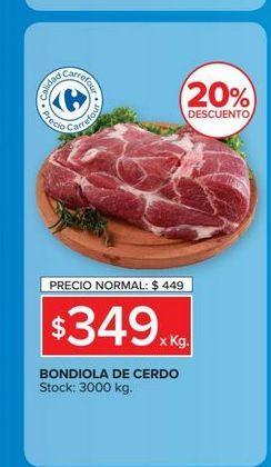 Oferta de Bondiola de cerdo  por $349
