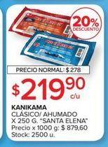 Oferta de KANIKAMA clasico/ahumado x 250g SANTA ELENA  por $219,9