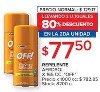 Oferta de Repelente de mosquitos Off por $77,5