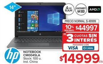 Oferta de Notebook HP por $44997