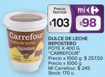 Oferta de Dulce de leche Carrefour por $103