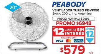 Oferta de Ventiladores Peabody por $6948