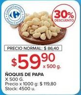 Oferta de Ñoquis por $59,9