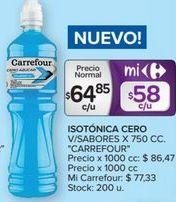 Oferta de Bebida isotónica Carrefour por $64,85