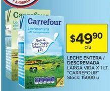 Oferta de Leche Carrefour por $49,9