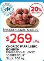 Oferta de Chorizo parrillero Carrefour por $269